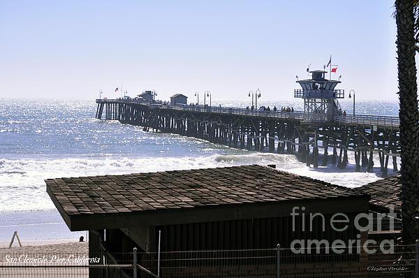 San Clemente Pier California Print by Clayton Bruster