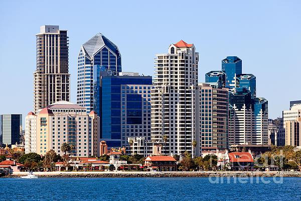 San Diego Skyline Photo Print by Paul Velgos