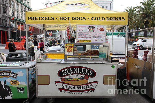 San Francisco - Stanley's Steamers Hot Dog Stand - 5d17929 Print by Wingsdomain Art and Photography
