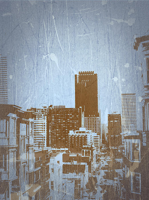 San Francisco 2 Print by Naxart Studio