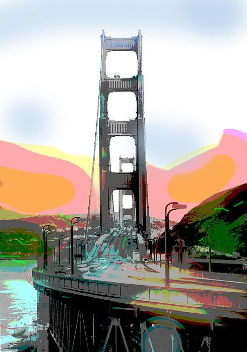San Francisco Bay Bridge Print by Charles Shoup