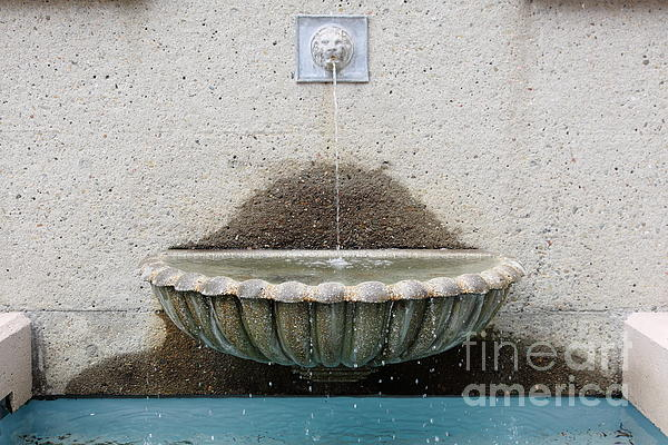 San Francisco Crocker Galleria Roof Garden Fountain - 5d17894 Print by Wingsdomain Art and Photography