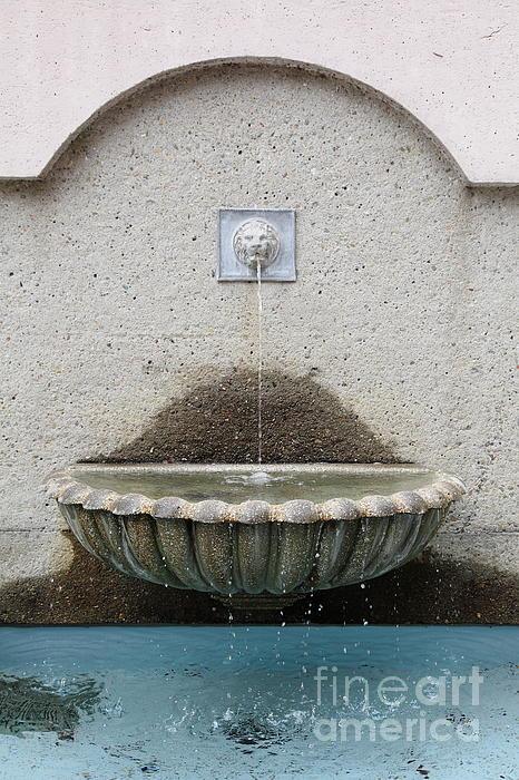 San Francisco Crocker Galleria Roof Garden Fountain - 5d17895 Print by Wingsdomain Art and Photography