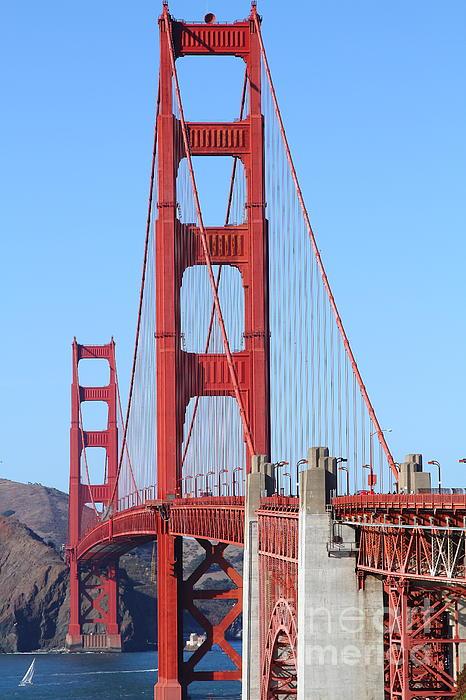 San Francisco Golden Gate Bridge . 7d8164 Print by Wingsdomain Art and Photography