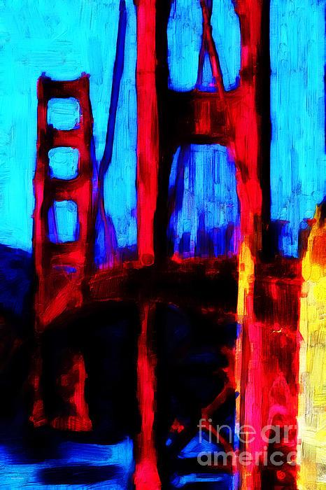 San Francisco Golden Gate Bridge Print by Wingsdomain Art and Photography