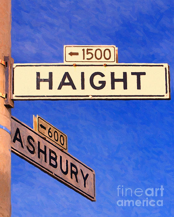San Francisco Haight Ashbury Print by Wingsdomain Art and Photography