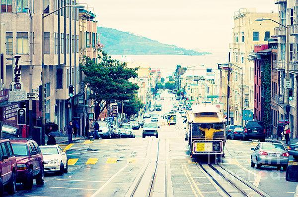 San Francisco Powell Street Cable Car Print by Kim Fearheiley