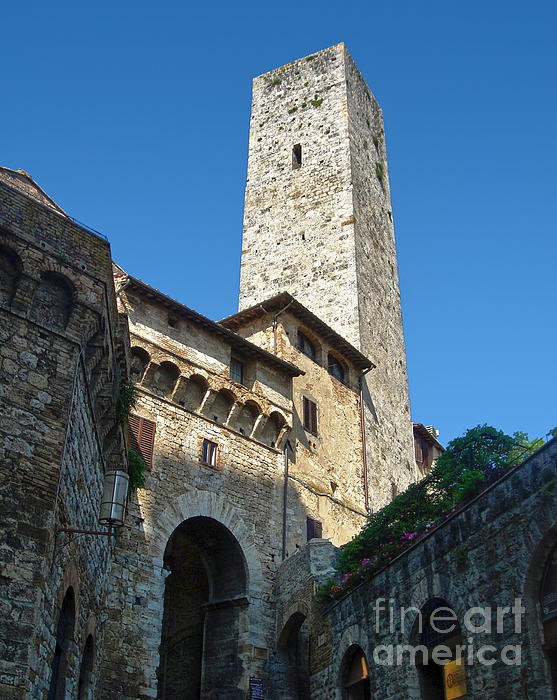 San Gimignano Italy Print by Gregory Dyer