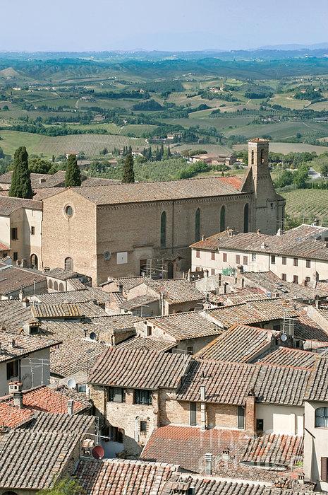 San Gimignano Print by Rob Tilley
