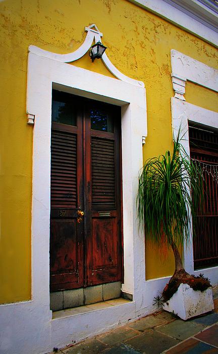 San Juan Doors Print by Perry Webster