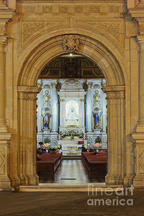Sanctuary Of La Basílica De La Virgen De La Soledad Print by Jeremy Woodhouse