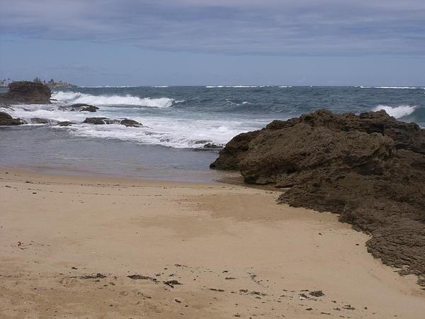 Sand And Surf San Juan Print by Anna Villarreal Garbis