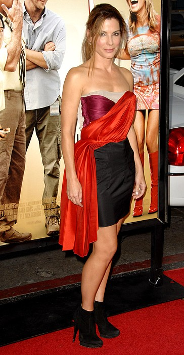 Sandra Bullock Wearing A Lanvin Dress Print by Everett