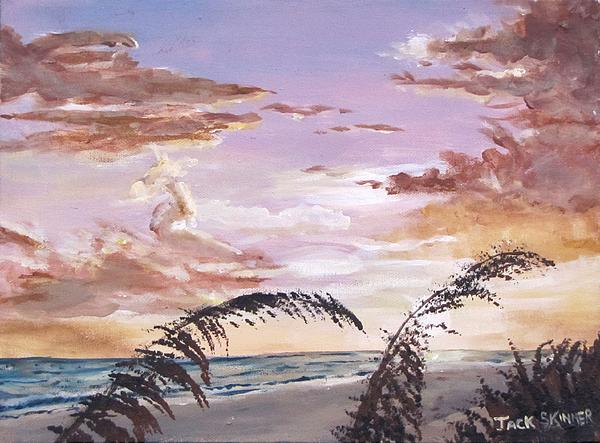 Sanibel Island Sunset Print by Jack Skinner