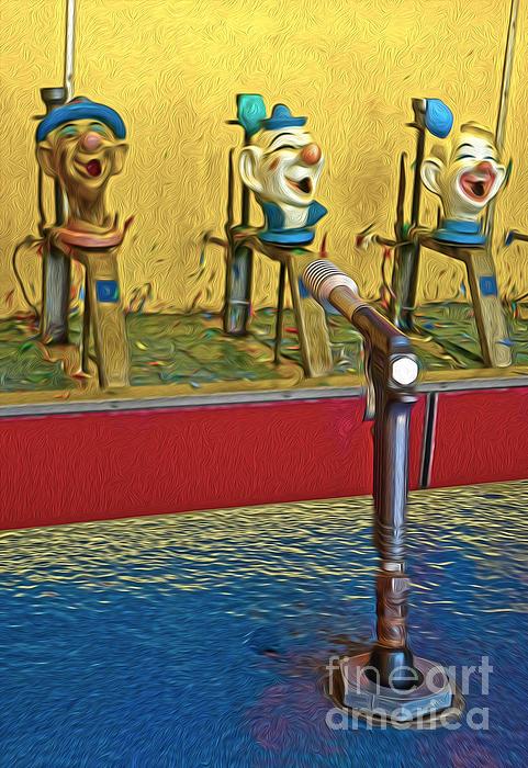 Santa Cruz Boardwalk - Clown Game - 02 Print by Gregory Dyer