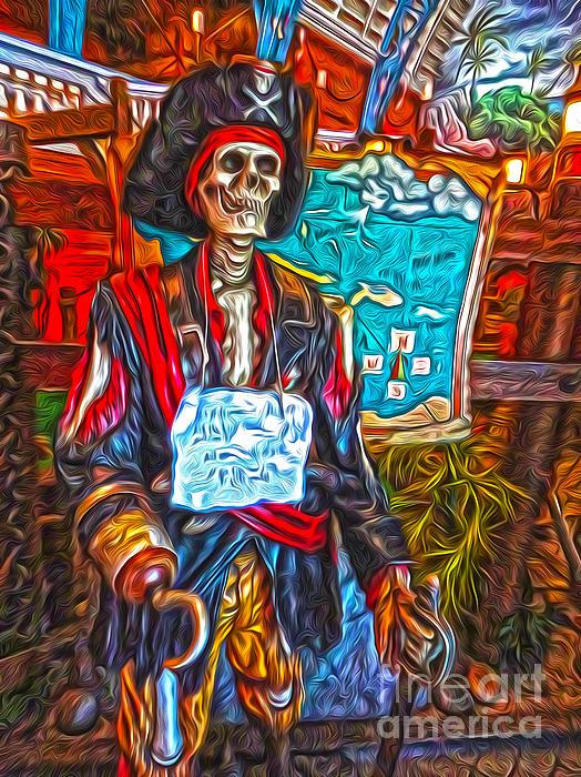 Santa Cruz Boardwalk - Pirate Of The Arcade Print by Gregory Dyer