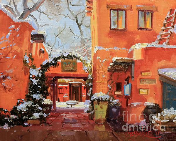 Santa Fe Cafe Print by Gary Kim
