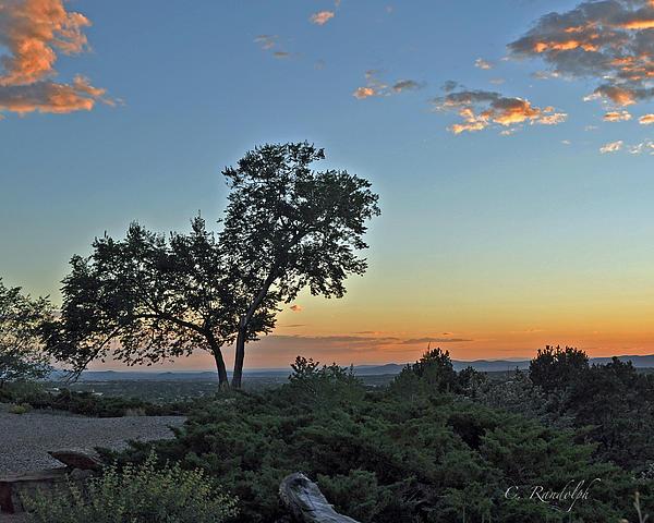 Santa Fe Sunset Print by Cheri Randolph