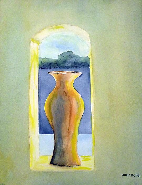 Santa Fe Window Print by Linda Pope