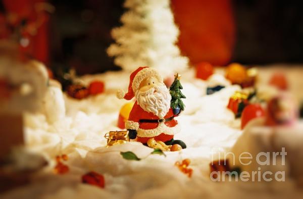 Santa In Town Photograph