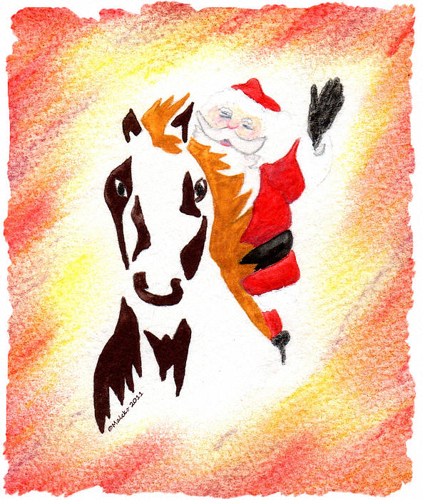 Santa Is Coming To Town Print by Mark Schutter