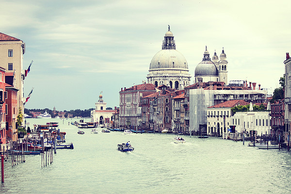 Santa Maria Della Salute In Venice Print by Elisa Severi