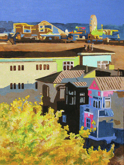Santa Monica Painting  - Santa Monica Fine Art Print