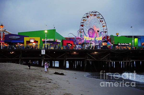 Santa Monica Pier May 12 2012 Print by Clayton Bruster