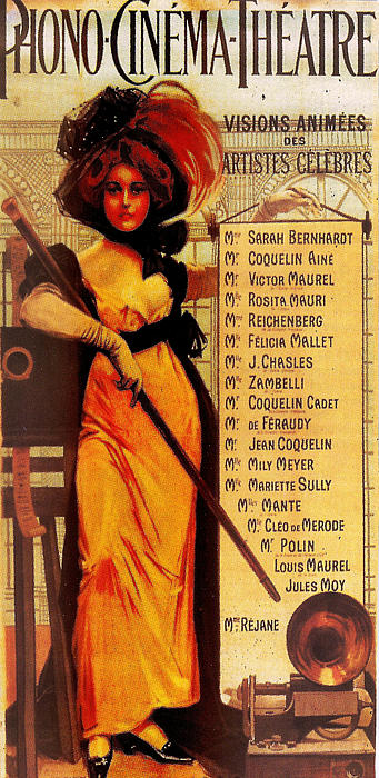 Sarah Bernhardt Print by Georgia Fowler