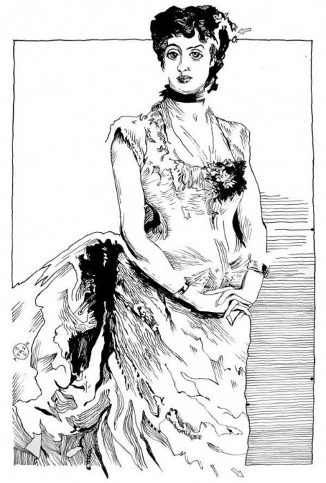 Sargent Madame Poirson Drawing