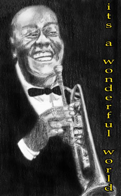 satchmo anneke hut Louis Satchmo Armstrong Drawing   Louis Satchmo Armstrong Fine Art Print ...