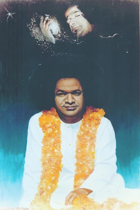 Sathya Sai Baba Divine Print by Anne Provost