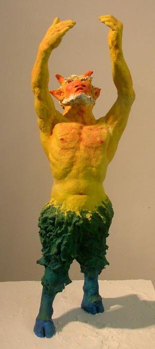 Satyr Prayer Sculpture