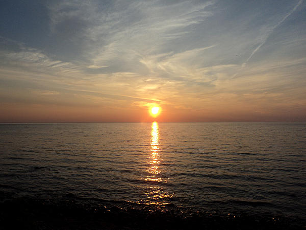 Sauble Sunset Print by Merv Scoble