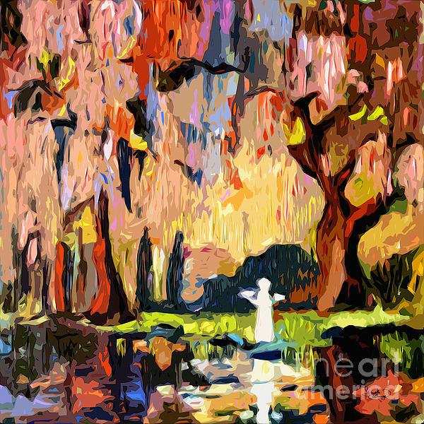 Savannah Georgia Garden Of Good And Evil Print by Ginette Callaway