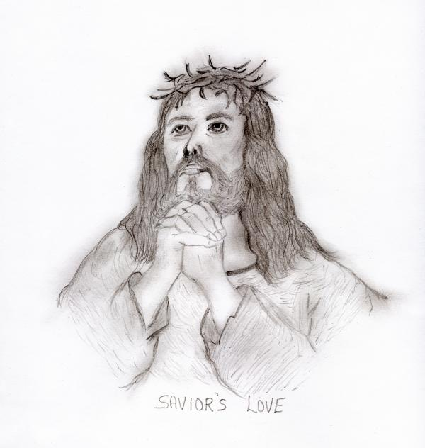 Savior's Love Print by Sonya Chalmers