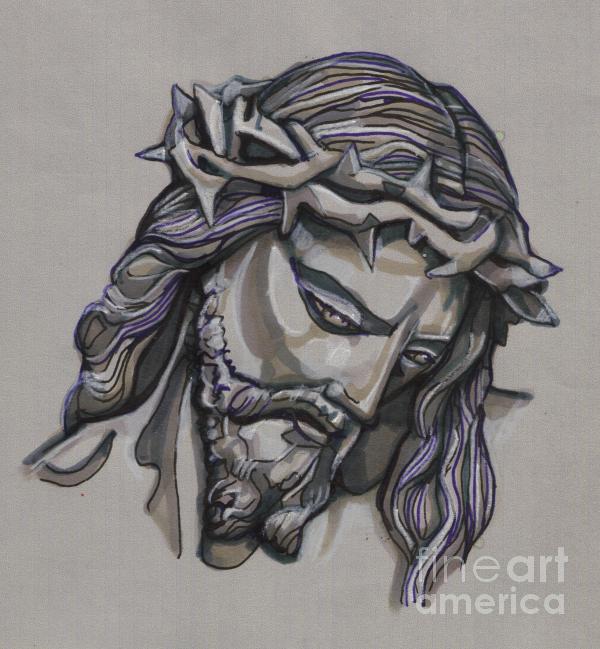 Saviour No 2 Print by Edward Ruth