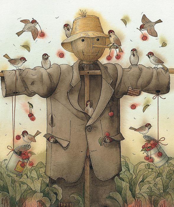Scarecrow  Print by Kestutis Kasparavicius
