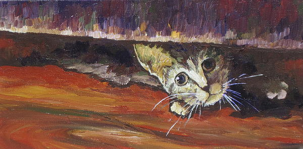 Scaredy Cat Print by Sandy Tracey