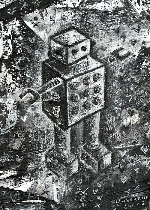 Scene Kid Robot Print by Roseanne Jones