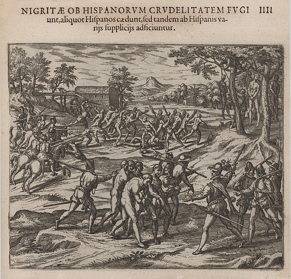 Scene Of Early Slavery In The Americas Print by Everett
