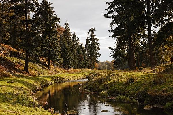 Scenic River, Northumberland, England Print by John Short