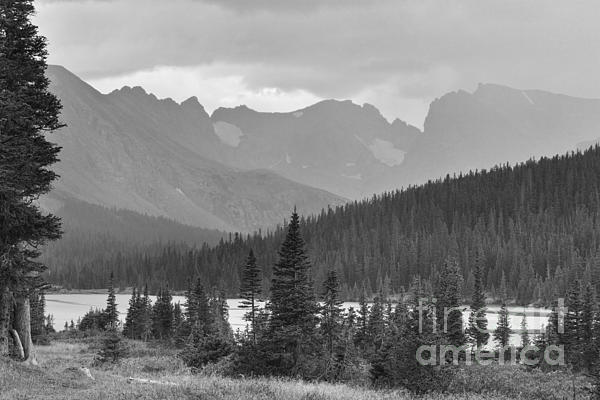 James BO  Insogna - Scenic View Indian Peaks Brainard Lake Boulder County CO BW