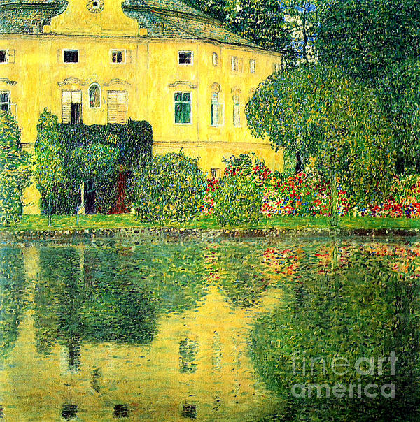 Schloss Kammer On The Attersee Print by Pg Reproductions