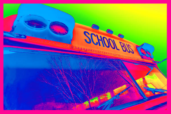 School Bus Print by Gordon Dean II