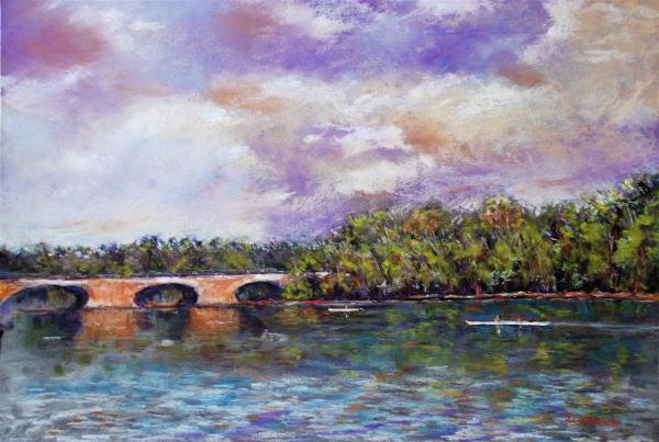 Schuylkill River Rowers Print by Joyce A Guariglia