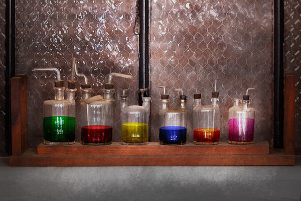 Science - Chemist - Glassware For Couples Print by Mike Savad