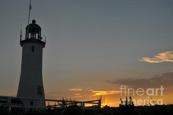 Scituate Light Print by Catherine Reusch  Daley