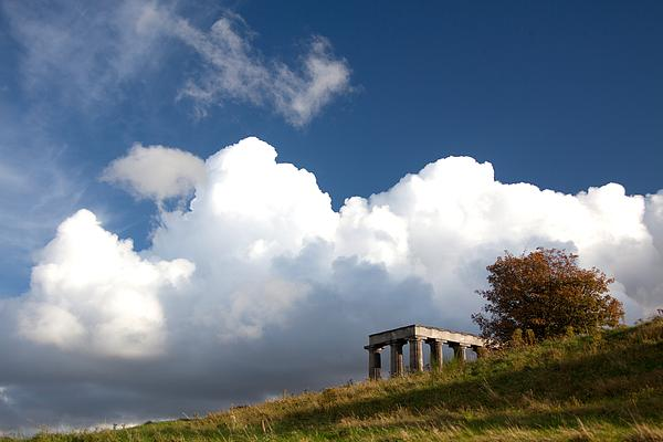 Scottish National Monument On Calton Hill Print by Steven Gray