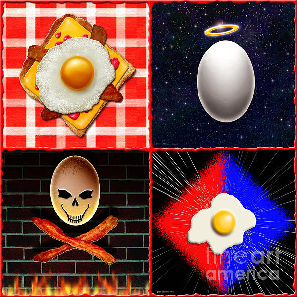 Scrambled Eggs Print by Cristophers Dream Artistry